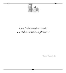 Cuentos del Picogordo. Colección TEJADOS Y ALCANTARILLAS. Dedicatoria-Felicitación