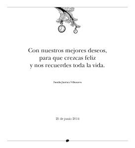 Cuentos del Picogordo. Colección ÁRBOL DE HORAS. Dedicatoria-Felicitación
