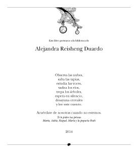 Cuentos del Picogordo. Colección ÁRBOL DE HORAS. Exlibris con dedicatoria/felicitación