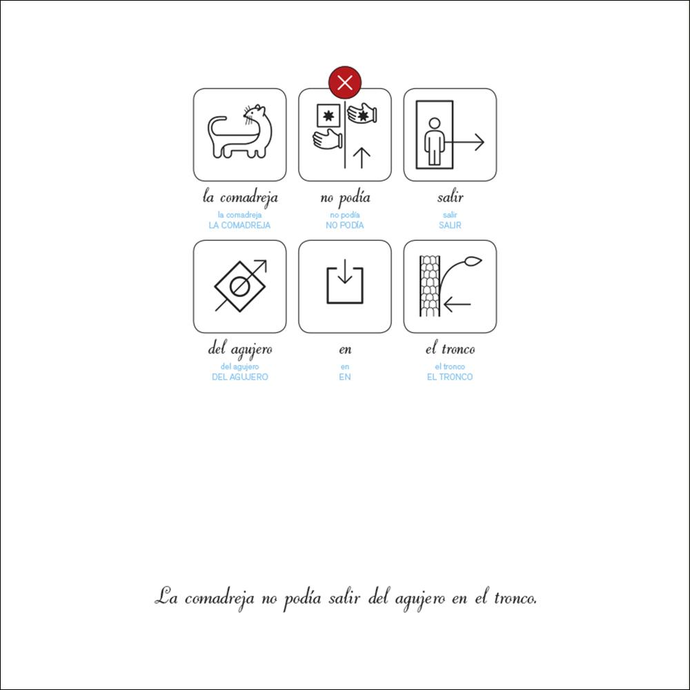 Cuentos con pictogramas, sistema SPC para la comunicación alternativa y aumentativa.